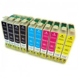 Kit 10 cartucce compatibili inkjet epson 4x t1811- 2x 12-13-14 xl