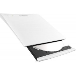 Masterizzatore Dvd / Cd esterno portatile Usb Slim bianco Samsung SE-208GB-RSWD
