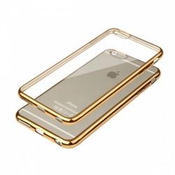 Cover Glossy in Silicone con bordino in Oro per APPLE IPhone 6 & 6S