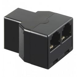 Adattatore Accoppiatore telefonico duplex 6P4C Femmina a 2x 6P4C Femmina Rj11 - RJ12