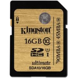 Sd Card 16GB Classe 10 SDHC UHS-I Scheda di Memoria Kingston SDA10/16GB