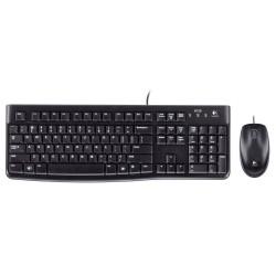 Tastiera e mouse multimediale kit usb logitech mk120