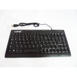 Tastiera mini multimediale slim usb qwerty ultrasottile linq