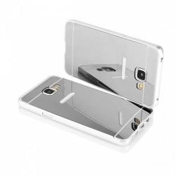 Bumper cornice in alluminio per Samsung Galaxy S7 G930  Serie Luxury Silver con back cover a specchio