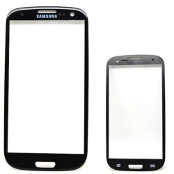 Vetro Per Samsung Galaxy S3 I9300 Nero Display Glass