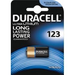 Batteria a litio duracell 123