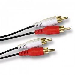 Cavo audio stereo 2x rca maschio / 2x rca maschio 5mt
