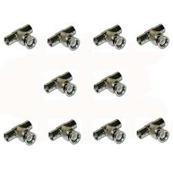 Adattatore bnc maschio / 2 femmina per videocamera conf. 10 pz.