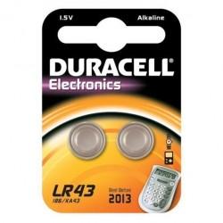 Batteria pila alcalina duracell lr43 1,5v conf.2pz
