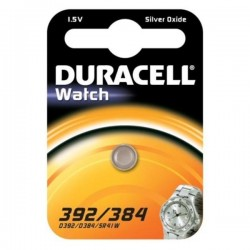 Batteria pila oss.arg. Duracell d392/384/sr41 1,5v