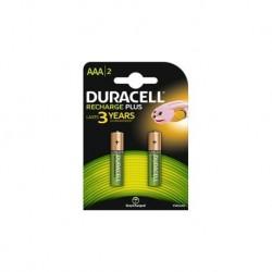 Batterie pile ricaricabili mini stilo duracell aaa conf. 2 pz.