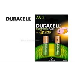 Batterie pile ricaricabili stilo duracell aa conf. 2 pz. 1300 mAh