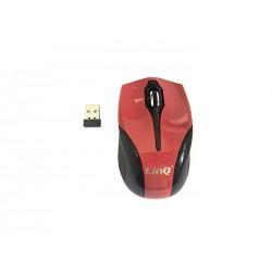 Mouse Mini Ottico Wireless 2.4Ghz Con Ricevitore Usb Linq LI-W198R 1200dpi Red / Rosso