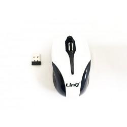 Mouse Mini Ottico Wireless 2.4Ghz Con Ricevitore Usb Linq LI-W198R 1200dpi White / Bianco