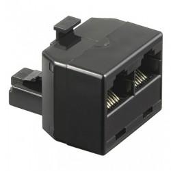 Adattatore Accoppiatore telefonico duplex 8P8C maschio a 2x 8P8C  Femmina  Rj45