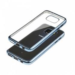 Cover Glossy in Silicone con bordino Blue per SAMSUNG Galaxy S7 G930