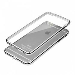 Cover Glossy in Silicone con bordino colore Argento per Apple IPhone 6 & 6S 4,7 pollici