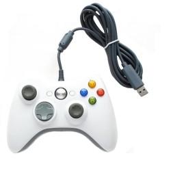 Game pad Xbox360 Controller Joypad Compatibile con Filo White Linq