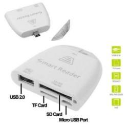 Adattatore Otg Micro Usb Lettore schede di memoria  Sd Micro Sd USB  per Smartphone