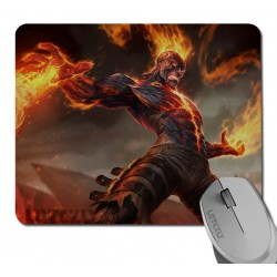 Tappetino mouse pad morbido League Of legends LOL Champion Brand fiamma vendicatrice 21cm x 25cm bordo ricucito