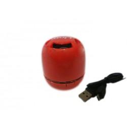 Altoparlante mini portatile Bluetooth con microfono rosso