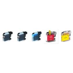 Kit 5 Cartucce compatibili inkjet brother lc-223 2xBK - 1xC - 1xM - 1xY
