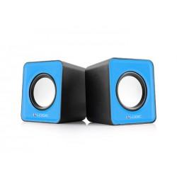 Altoparlanti Speaker 2.0 Logic LS-09 Casse Usb per Pc & Notebook Blue