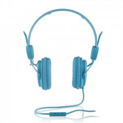 Cuffie Headphones Modecom MC-400 Fruity Blu Con Microfono e Tasto di Risposta