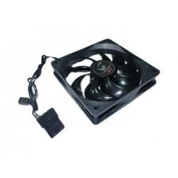 Ventola di raffreddamento per Case nero lucido 12x12x2,5 cm doppio connettore 3 + 4 pin