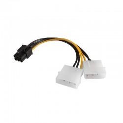 Adattatore cavo interno pc alimentazione 2 Molex To PCI-E 6 Pin