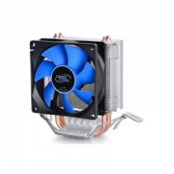 Dissipatore in alluminio iceedge Mini FS V2.0 Con 2 Heatpipe Per Cpu Amd & Intel Con Ventola 80 mm Deepcool