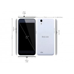 Smartphone Mode LIFE ONE Android 4.4 Dual Sim Octa Core 2GB Ram 16GB Rom Schermo 5'' HD IPS Camera 13MPX bianco