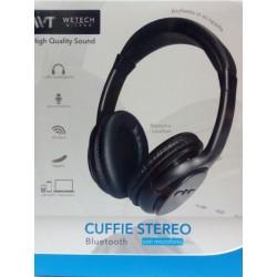 Cuffie Bluetooth Stereo con microfono regolabili con presa jack 3,5mm Bianche