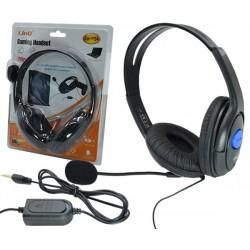 Cuffie gaming wired con microfono e cuscinetti compatibili con Ps4 nero con filo