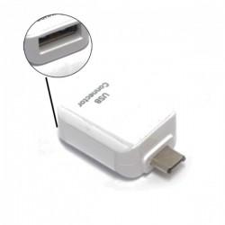 Adattatore Samsung ee-ug930 da USB femmina a  Micro USB Maschio bianco OTG bulk