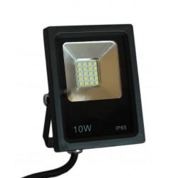 Faro led smd faretto slim luce bianca fredda 6000K 10W  ip65 per esterni ed interni