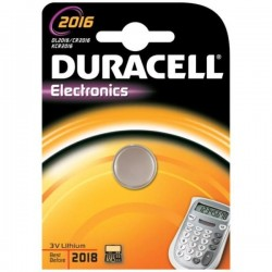 Batteria a litio bottone duracell dl2016/cr2016