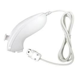 Nunchuck telecomando controller wii compatibile nintendo bianco linq