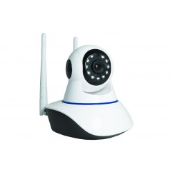 Telecamera Ip Bianca Wireless Wifi per Videosorveglianza Automatica Con LED IP CAMERA