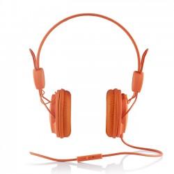 Cuffie Headphones Modecom MC-400 Fruity orange Con Microfono e Tasto di Risposta