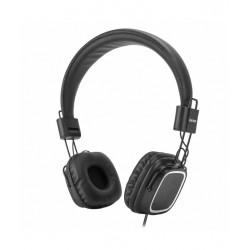 Cuffie con microfono regolatore di volume bassi superiori nero vultech hd-08n