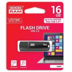 Pen Drive 16 Gb Goodram chiavetta USB 3.0 Nero UMM3