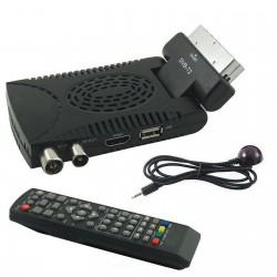 Decoder mini Digitale Terrestre  Full HD DVB-T2 Scart Usb 2.00