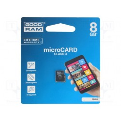 Micro Sd 8gb Classe 4 Scheda Di Memoria Goodram M400-0080R11