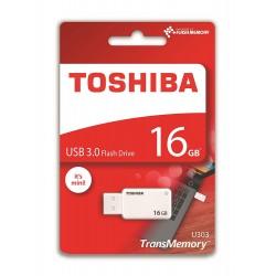 Pen drive 16gb chiavettaToshiba Akatsuki Transmemory U303, Bianco Usb 3.0 THN-U303W0160E4