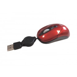 Mouse ottico usb 2.0 mini 800 dpi cavo retrattile