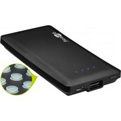 Power bank caricabatteria portatile 4000 mah 1A nero con ventose