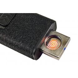 Accendino usb elettronico antivento senza fiamma, tascabile