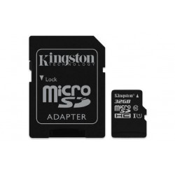 Micro SDCS 32 Gb Kingston Canvas - Transflash 32 Gb - Class10 - con Adattatore