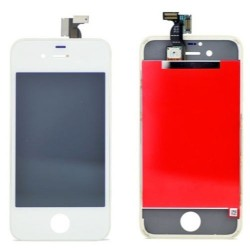 Display Lcd+ Touch Screen Vetro Schermo + Frame per Apple Iphone 4 / 4G Bianco